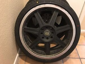 Flat Wheels Tires With The Size 225 35 18