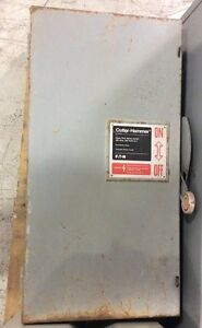 Cutler Hammer Eaton Safety Switch Dh364fgk 200 Amp 600 Volt 3 Pole Fusible