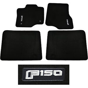 Oem New 2015 2020 Ford F 150 Crew Cab Carpet Floor Mats Black Embroidered Logo