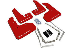 Rally Armor Mud Flaps Guards For 15 Vw Golf R Mkvii Red W White Logo