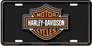 Harley Davidson Logo Embossed Vanity Novelty Metal License Plate Car Auto Tag