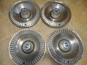1964 Ford Galaxie Hubcaps 14 Set Of 4