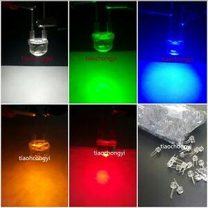 100x 8mm 0 5w High Power Leds White Red Green Blue Yellow Led Assortment Kit