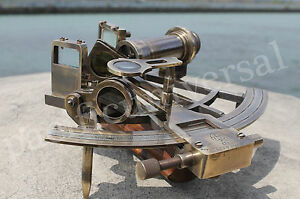 Working Sextant Henry Barrow Co London Vintage Astrolabe Ship Use Item