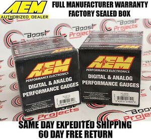 Aem 2 Gauges Combo Set Volt Meter Uego Wideband 4 9lsu Air Fuel 30 4110 30 4400