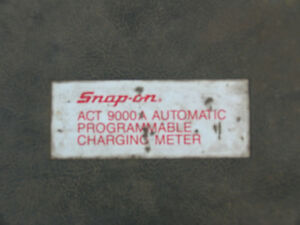 Snap On Act 9000a Automatic Charging Meter Refrigerant Scale