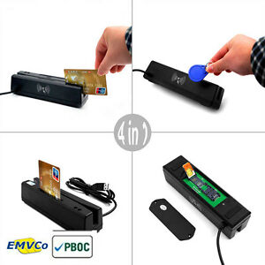 Mcr160 Usb 4 in 1 Credit Card Reader Emv ic Chip Magnetic Rfid Psam Card