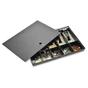 Money Tray Locking Cover Store Cash Drawer Security Safe Register Storage Box