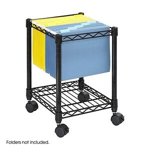 Rolling File Cart Storage Office Cabinet Organizer Hanging Legal Letter size New