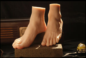 Realistic Soft Silicone Male Foot Mannequin Fetish Love Large Size 42 Sock Show
