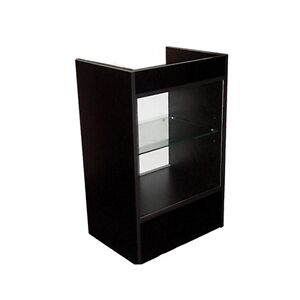 Cash Register Stand Showcase With Glass Front Black