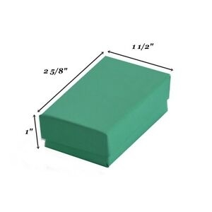200 Teal Blue Cotton Filled Jewelry Packaging Gift Boxes 2 5 8 X 1 1 2 X 1