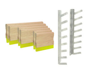 Screen Printing Silk Screening Squeegee Pack 2 16 2 12 2 6 Plus Free Rack