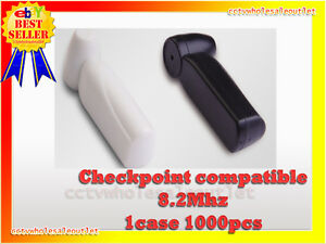 Security White Pencil Tag Hard Tag 1000 Pcs Checkpoint Compatible 8 2mhz White