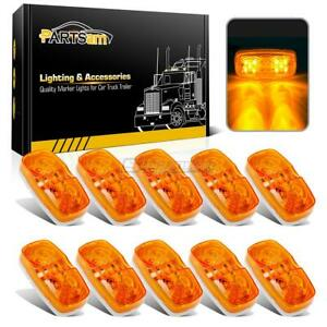 10 Led Clearance Marker Lights 4 X 2 Double Bubble Sealed Lights 10led Amber
