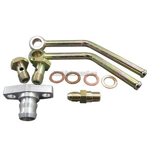 Cxracing Turbo Charger Water Oil Fittings Accessory Kit For T3 Gt35 Gt35r