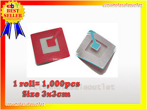20000 Pcs Checkpoint Compatible 3x3 Clear Soft Label Case 8 2mhz Fake Barcode