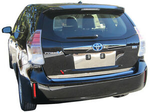 1pc Stainless Steel Rear Deck Trim Kit Fits 2012 2016 Toyota Prius V
