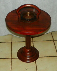 Solid Cherry Mid Century Smoke Stand