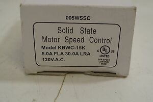 Greenheck Variable Speed Controller Cat Kbwc 15k Nib