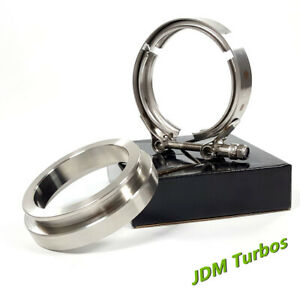 Gt45 Gt45r 3 25 4 Stainless Turbo Exhaust Down Pipe V Band Clamp Flange Kit