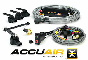 Accuair Elevel W Rocker Switch Air Bag Suspension 4 Corner Control Kit