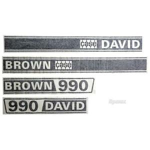 Case 990 David Brown 990 Selectamatic Tractor Basic Hood Decal Set