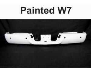 Painted Bright White W7 Rear Bumper Bar For 09 17 Dodge Ram W Sensor W O Dual
