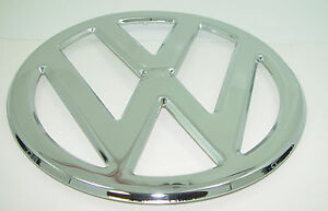 Front Nose Emblem Vw Chrome 317mm 12 48 Fits Volkswagen Type2 Bus 1950 1967