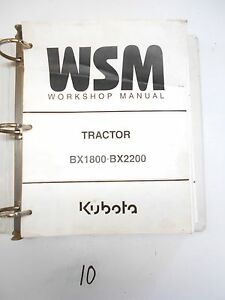 Kubota Bx1800 Bx2200 La 271 402 Workshop Service Manual Flat Rate Manuals