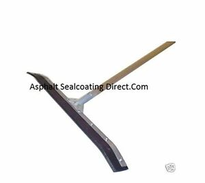 Asphalt Sealcoating Equipment Sealcoat Squeegee 36 Inch Curved Blade