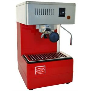 Quick Mill 820 Espresso Cappuccino 2 Cups Machine Coffee Thermoblock Red 220v