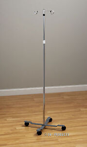 New Rolling Adjustable Iv Pole Stand 241