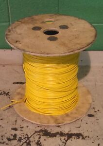 16 Mtw Machine Tool Wire Yellow 26 Strand 600 Volt Partial Reel 1250 Ft