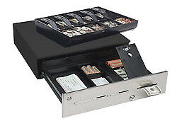 Mmf Advantage Cash Drawer Stainless 3 Slots Drop safe 18 8x21 5bill 5coin