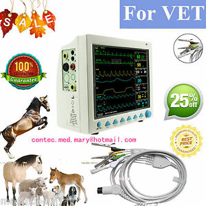 Vet Veterinary Patient Monitor 6 Parameter ecg nibp pr spo2 temp resp ce fda hot