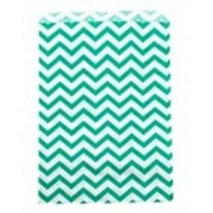 500 Teal Chevron Merchandise Retail Paper Party Favor Gift Bags 6 X 9 Tall