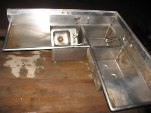 Commercial 3 Compartment Stainless Steel Corner Sink