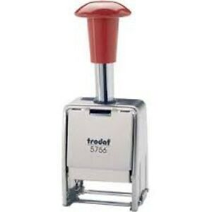Trodat Automatic Numbering Machine Metal Frame Black Ink