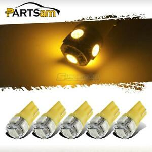 5x Amber Roof Cab Marker Clearance Led Bulbs Lights For 1999 2014 Ford F250 F350