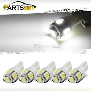 5x White Roof Cab Marker Clearance Led Bulbs Lights For 1999 2014 Ford F250 F350