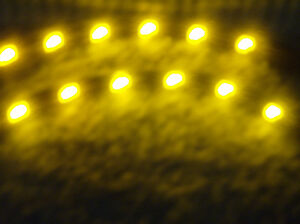 Lamborghini Subaru Saab Yellow 5050 Smd Led 2 Strips