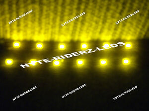 Yellow 12 5050 Smd Led 2 Strips Volkswagon All Makes Total 24 Led 5050smd Leds