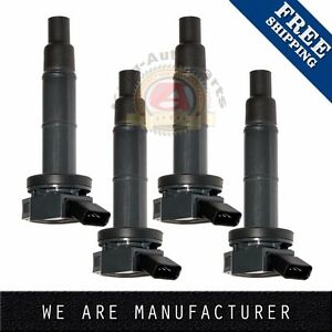 Set Of 4 Ignition Coils Plug Pack 2008 For Various Vehicles 2 4l L4 Uf333 C1330