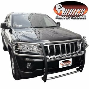 Aries 1052 2 2011 2017 Jeep Grand Cherokee Stainless Grill Brush Guard Push Bar