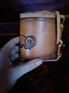 Handmade Leather Can Cooler Bottle Cover Beer Cooler water Bottle Cover Ram