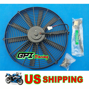14 12v Electric Cooling Radiator Fan kits For Mazda Rx7 Fc bmw E30 peugeot 206
