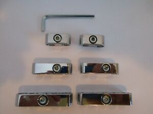 Spark Plug Wire Separators Chrome 7mm 8mm Looms Chevy Ford Mopar Hot Rods 9576