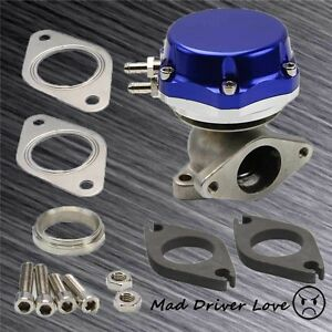 Wastegate Kit 14psi Boost Control Bolt on Turbo Exhaust Monifold 38mm Port Blue