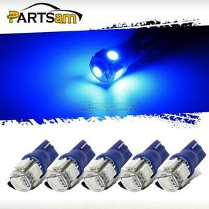 5x Blue Roof Cab Marker Clearance Led Bulbs Lights For 1999 2016 Ford F250 F350
